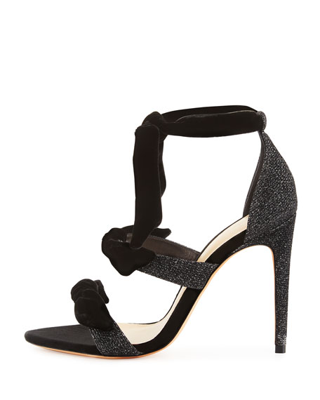 Mary Glitter 100mm Sandals, Black