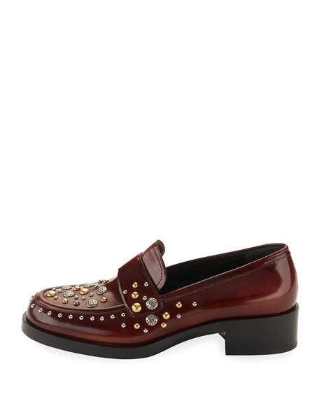 Mix-Studded 30mm Leather Loafer
