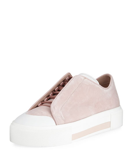 Alexander McQueen Suede Concealed Lace-Up Low-Top Platform