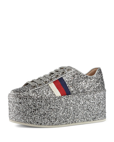 Peggy Glitter Platform Low-Top Sneaker