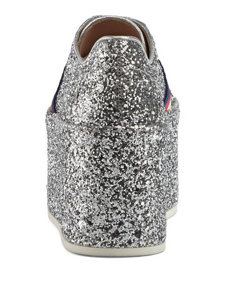 Peggy Glitter Platform Low-Top Sneaker