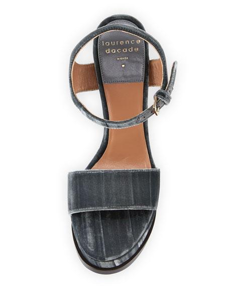 Perla Velvet Platform 130mm Sandal