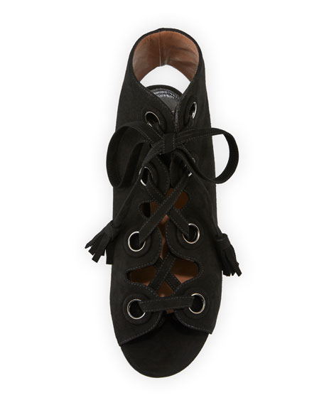 Polly Suede Lace-Up 50mm Sandal
