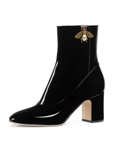 Lois Patent Leather Bee Bootie