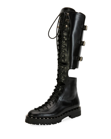 Soul Rockstud Split Knee-High Boot