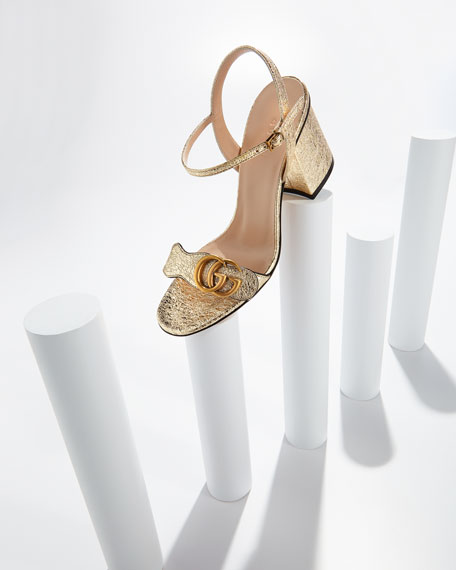 Marmont Metallic City Sandal, Gold