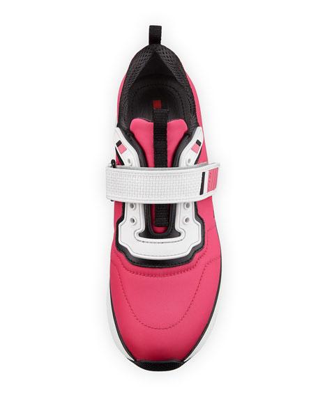 Stretch Mesh Platform Sneaker, Pink