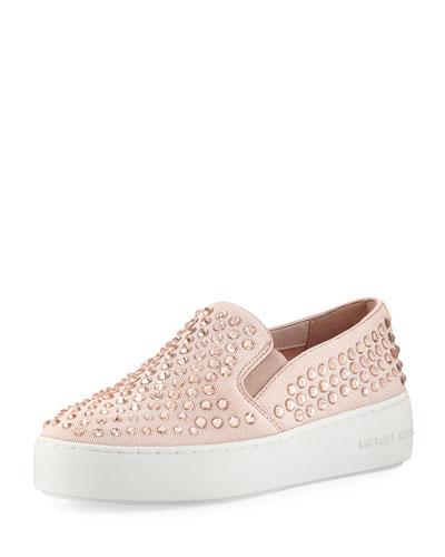 Trent Crystal Mesh Skate Sneaker, Pink