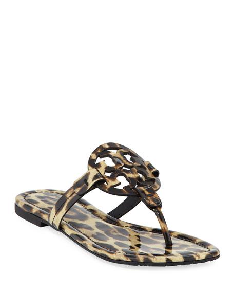 Tory Burch Miller Printed Flat Thong Sandal, Leopard