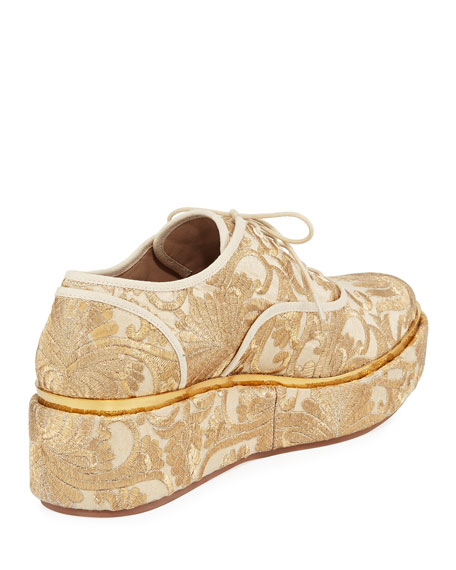 Arden Fabric Platform Oxford, Beige
