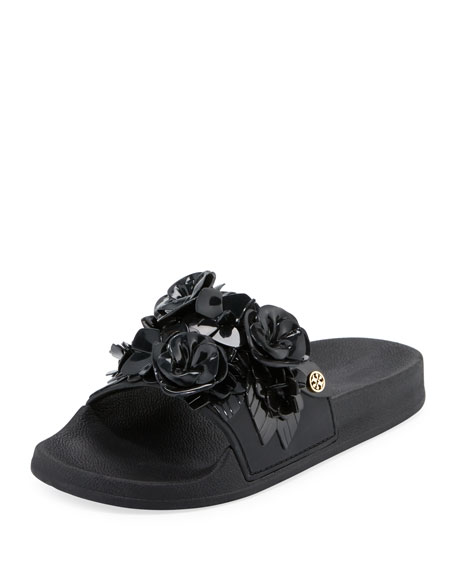 Tory Burch Blossom Flower Slide Sandal