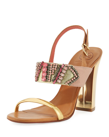 Tanner Jeweled 100mm Sandal
