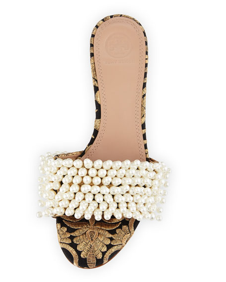 Tatiana Beaded Slide Sandal