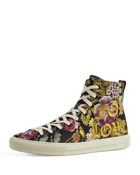 Gucci Major Blind For Love High-Top Sneaker, Black