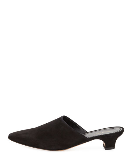 Elegant Leather 40mm Mule Pump