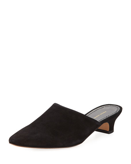 Mansur Gavriel Elegant Leather 40mm Mule Pump
