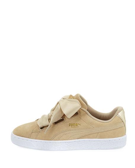 Basket Heart Safari Suede Sneaker, Tan
