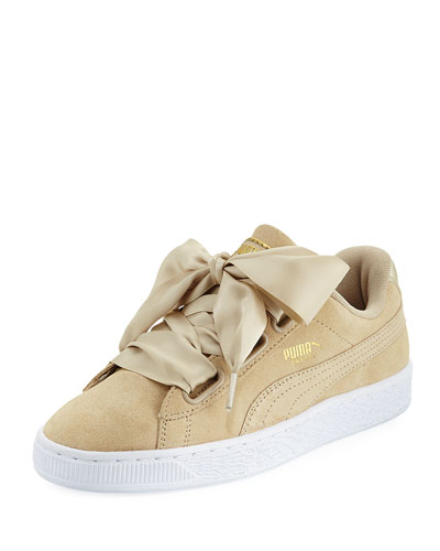Basket Heart Safari Suede Sneaker, Tan
