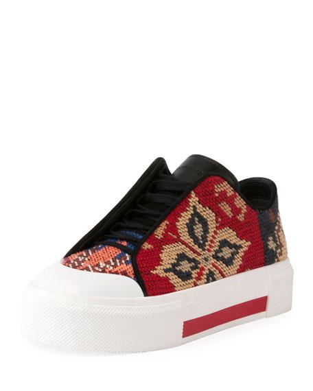 Alexander McQueen Needlepoint Platform Low-Top Sneaker