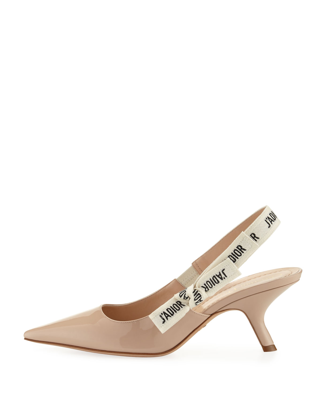 Dior J'Adior Patent Calfskin Slingback