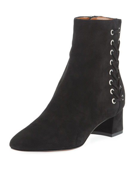 Polina Suede Corset Ankle Boot