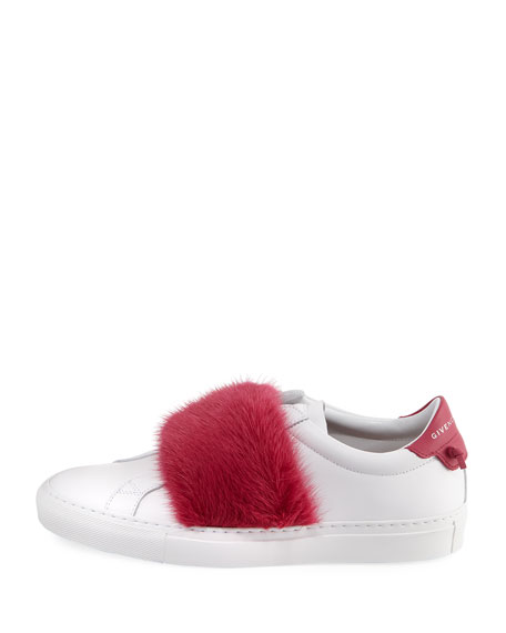 Urban Knot Fur-Trim Sneakers