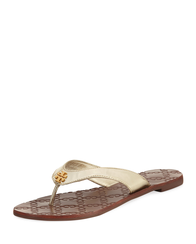 682683a6d7ce Tory Burch Monroe Metallic Flat Thong Sandal