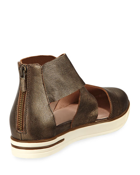 Carver Crisscross Metallic Sneaker, Brown