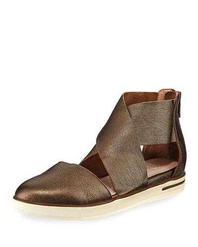 Carver Crisscross Metallic Sneaker, Brown