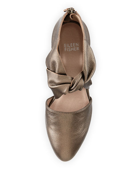 Mary Knotted Cutout Metallic Pump