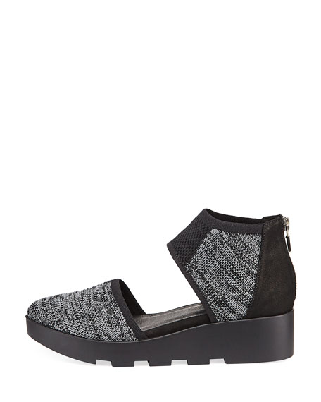 Ogden Stretch-Knit Two-Piece Wedge Sneaker