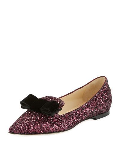 45b048f56425 Jimmy Choo Gala Glitter Bow Loafer from Neiman Marcus - Styhunt