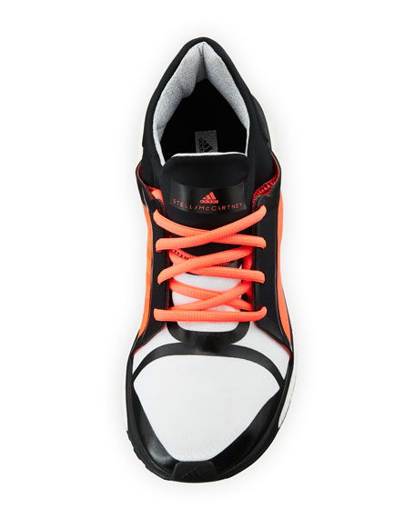 Energy Boost Mixed Fabric Sneaker, White/Pink