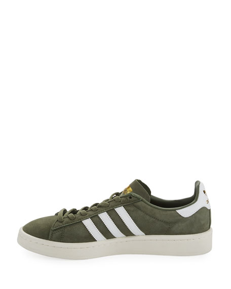 Campus Suede 3-Stripe Lace-Up Sneaker, Green