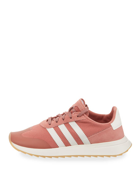 Flashback Mesh/Leather Sneakers, Pink