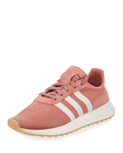Flashback Mesh/Leather Sneaker, Pink