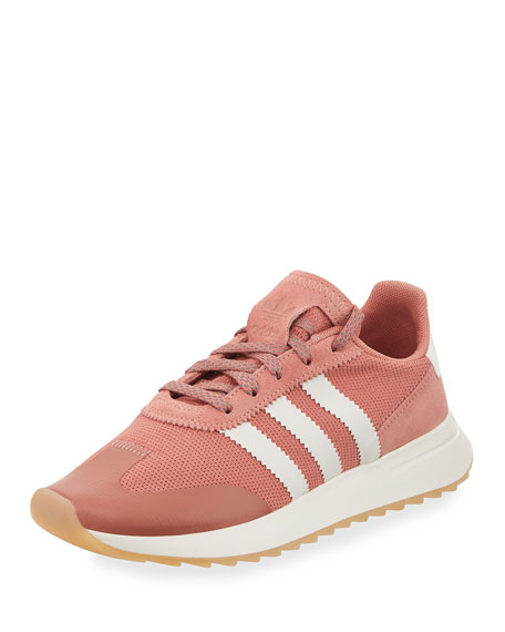 Adidas Flashback Mesh/Leather Sneaker, Pink