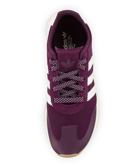 Flashback Mesh/Leather Sneaker, Night Red/White