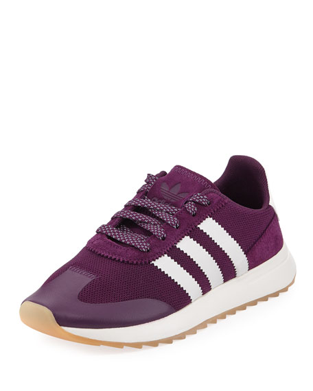 Adidas Flashback Mesh/Leather Sneaker, Night Red/White