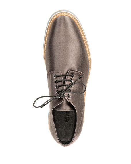 Drystan Satin Creeper Oxford Sneaker, Slate