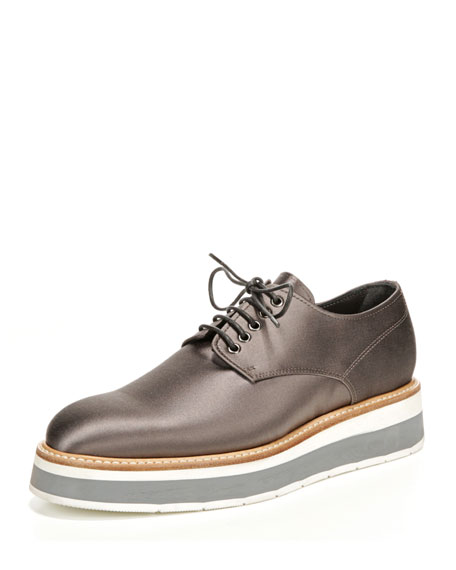 Drystan Satin Creeper Oxford Sneaker, Slate