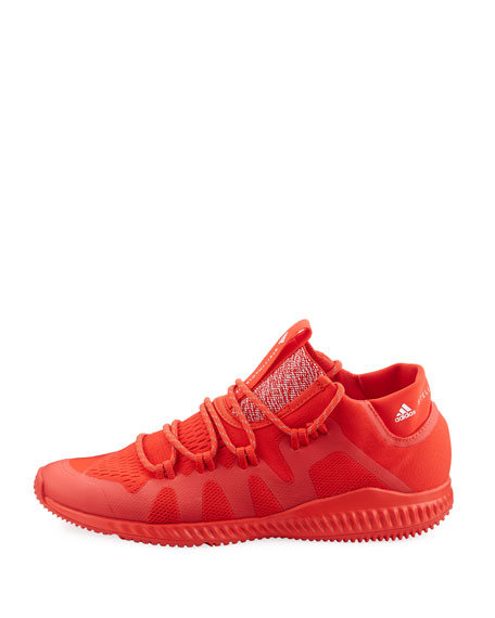 CrazyTrain Bounce Mid-Top Fabric Trainer Sneaker, Bright Red