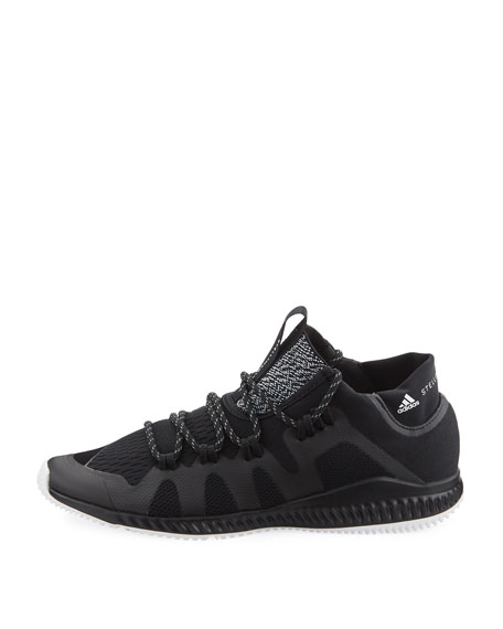 CrazyTrain Bounce Mid-Top Fabric Trainer Sneaker, Black