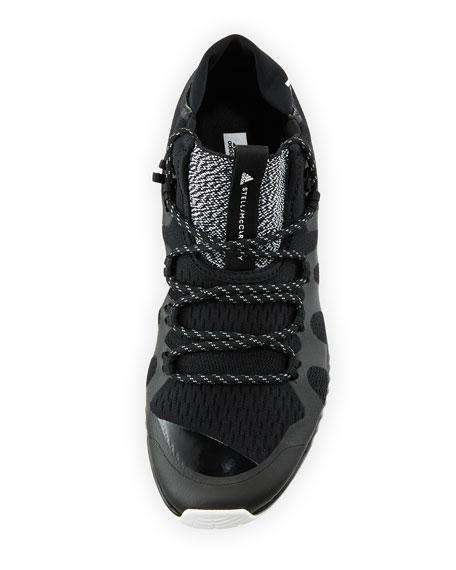 CrazyTrain Bounce Mid-Top Fabric Trainer Sneaker, Black
