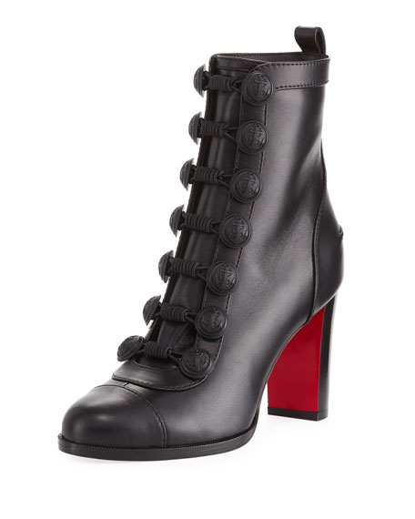 Christian Louboutin Who Dances Leather Red Sole Bootie