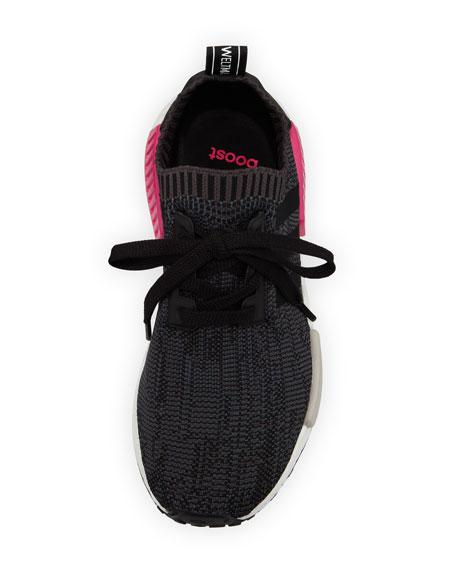 NMD Boost Stretch-Knit Sneaker, Black