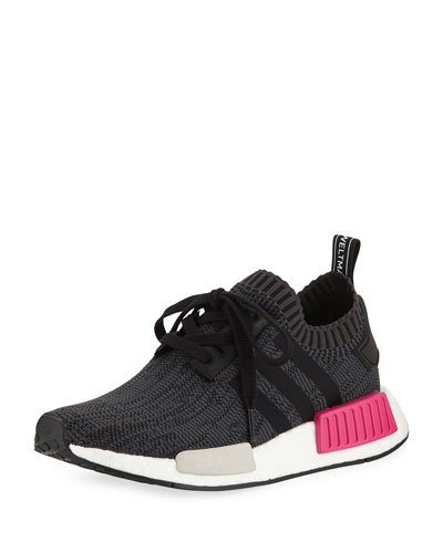 NMD Boost Stretch-Knit Sneaker, Black