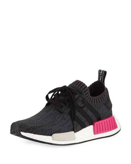 Adidas NMD Boost Stretch-Knit Sneaker, Black