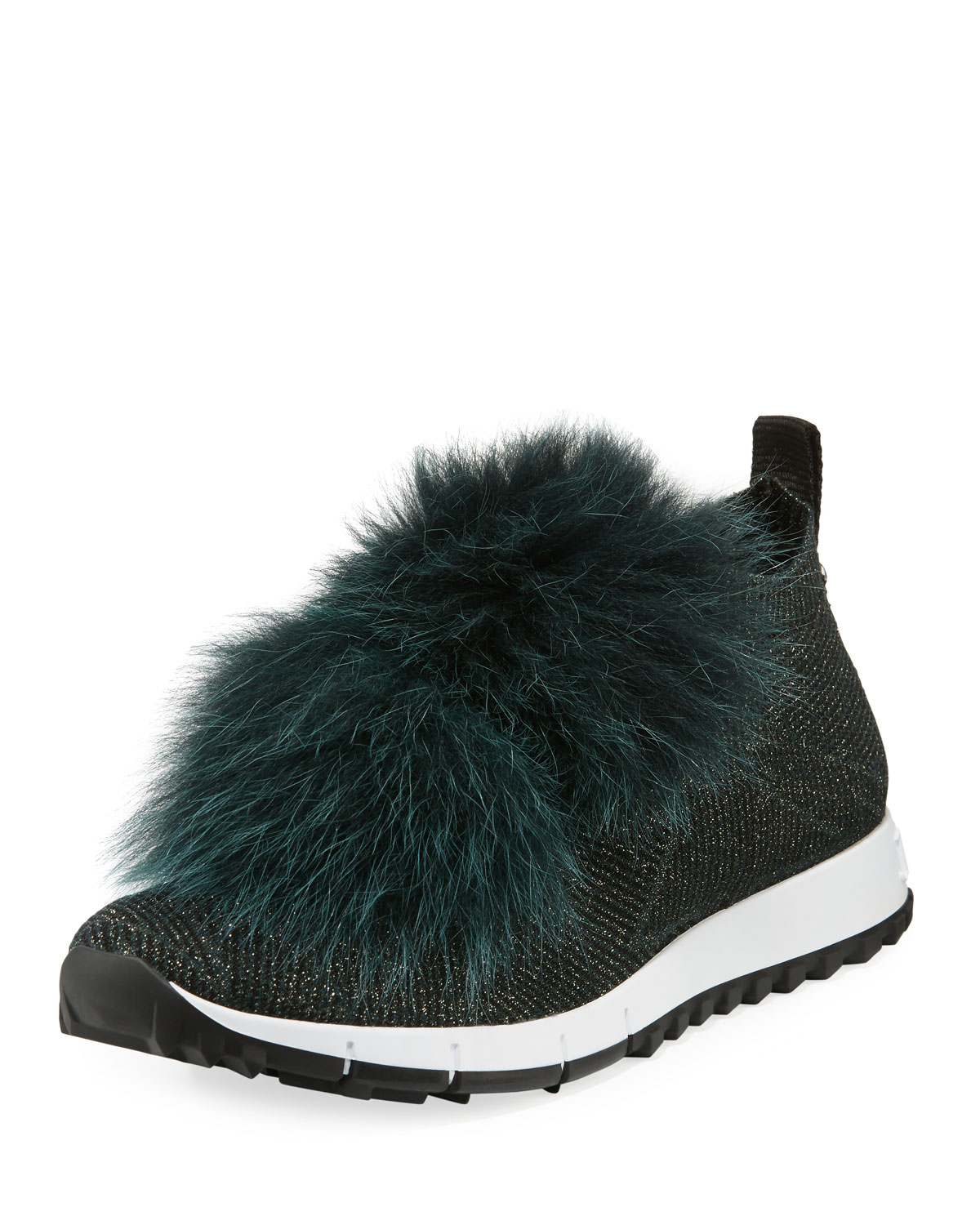6c1099109432 Jimmy Choo Norway Trainer Sneaker with Fur Pompom