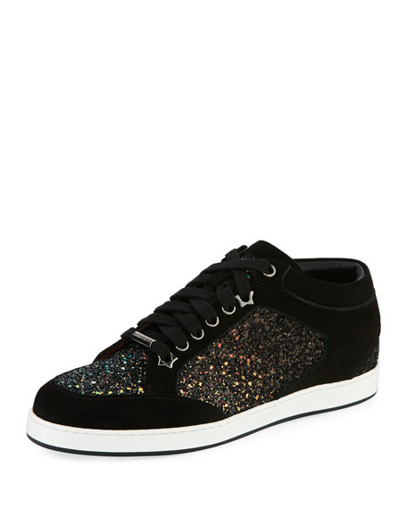 Jimmy Choo Miami Glitter Low-Top Sneaker